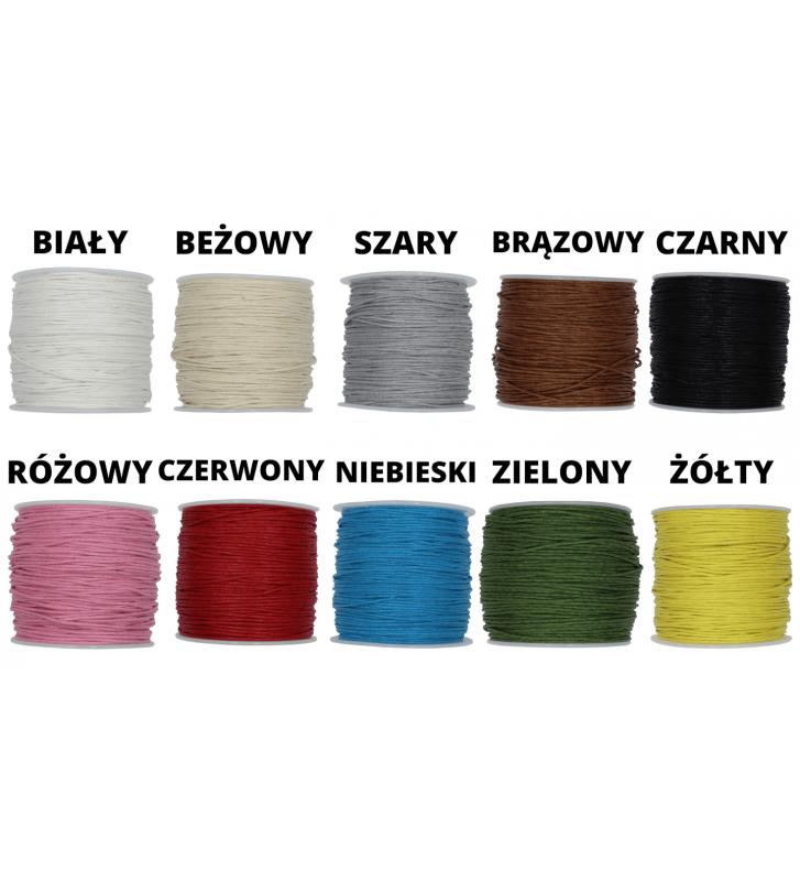różne kolory sznurków na bransoletkę