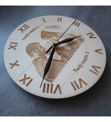 Zegar ścienny z własnym nadrukiem