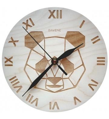 drewniany zegar ścienny do pokoju dziecięcego - panda