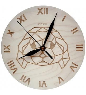 drewniany zegar ścienny - królik baranek miniaturka