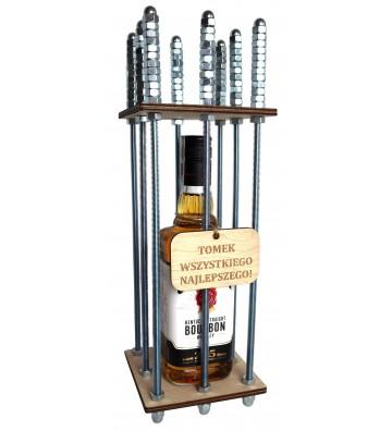 klatka na alkohol z własnym grawerem prezent na urodziny