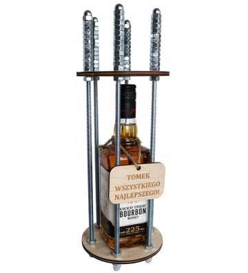 klatka na alkohol z własny grawer prezent na urodziny