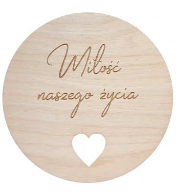Drewniana tabliczka Miłość...
