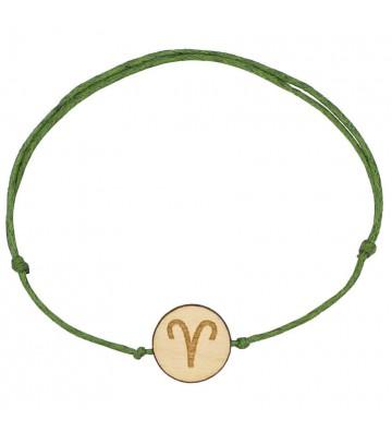 drewniana bransoletka ze znakiem zodiaku barana