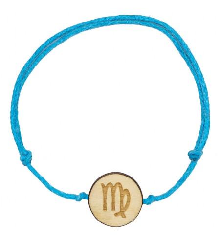Drewniana bransoletka znak zodiaku - Panna - grawerowana